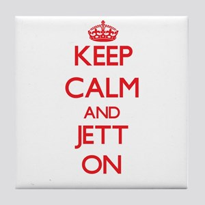 Keep Calm and Jett ON Tile Coaster