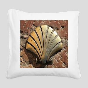 Gold El Camino shell sign, pa Square Canvas Pillow