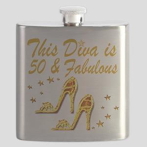 GLAMOROUS 50TH Flask