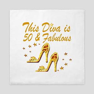 GLAMOROUS 50TH Queen Duvet