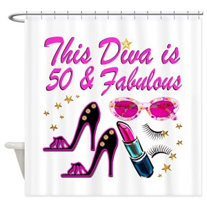 Happy 50th Birthday Shower Curtains