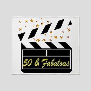 GLAMOROUS 50TH Throw Blanket