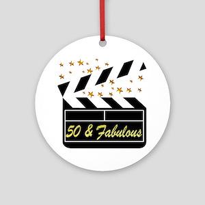 GLAMOROUS 50TH Ornament (Round)