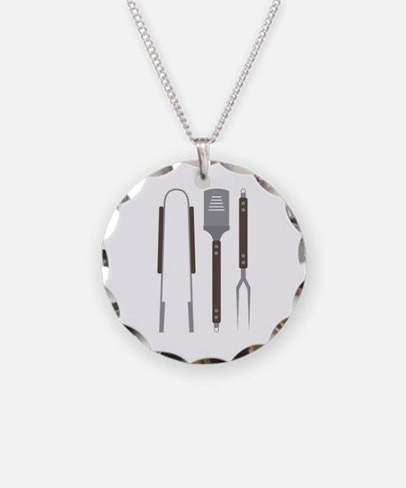 Grill Untensils Necklace