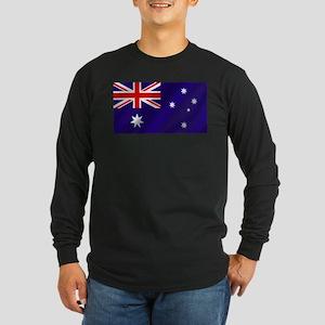 Flag of Australia Long Sleeve Dark T-Shirt