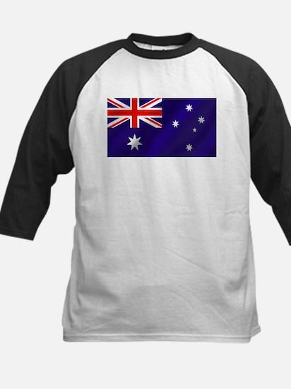 Flag of Australia Kids Baseball Jersey