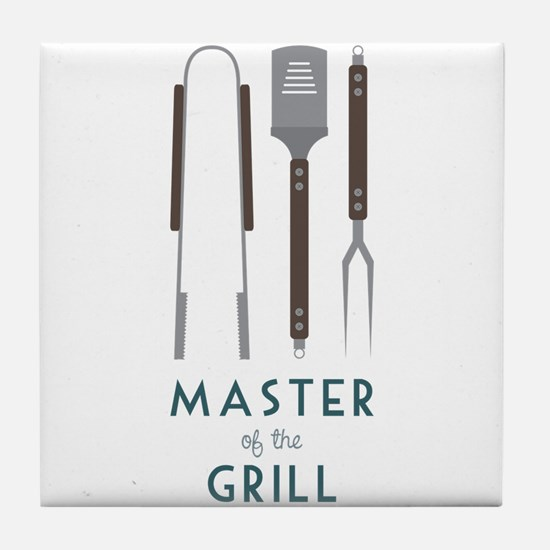 Master Of the Grill Tile Coaster