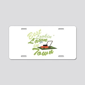 Best Lookin Lawn Aluminum License Plate