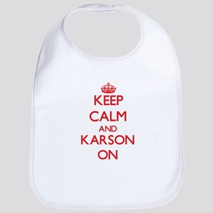 Keep Calm and Karson ON Bib
