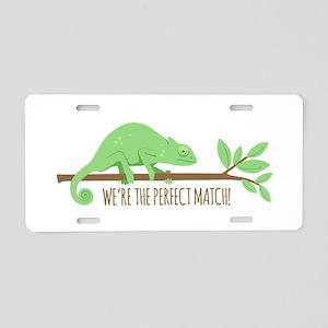 Chameleon Lizard Perfect Match Love Aluminum Licen