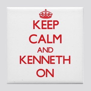 Keep Calm and Kenneth ON Tile Coaster