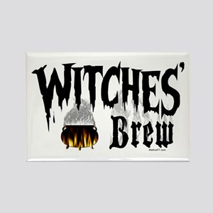 Witches Brew Rectangle Magnet