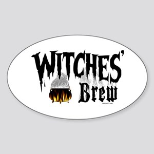 Witches Brew Oval Sticker
