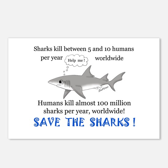 Save the Sharks Postcards (Package of 8)