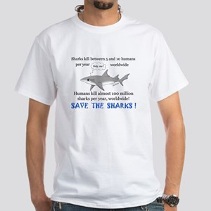 Save the Sharks White T-Shirt