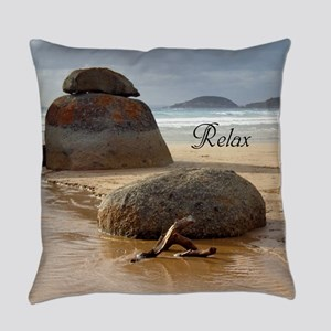 Stacked Boulder Rocks on Whiskey B Everyday Pillow