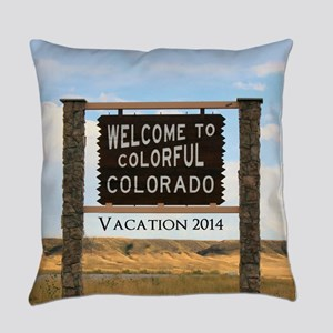 Welcome to Colorful Colorado Custo Everyday Pillow