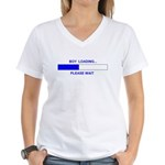 BOY LOADING... Women's V-Neck T-Shirt