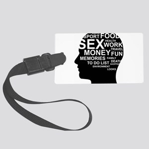 What's on man mind Brain Thought Large Luggage Tag
