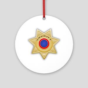 Sheriff badge Ornament (Round)