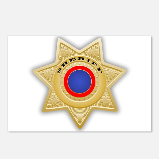Sheriff badge Postcards (Package of 8)