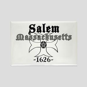 Salem Massachusetts Rectangle Magnet