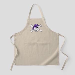 Purple Pirate skull and crossbones Apron