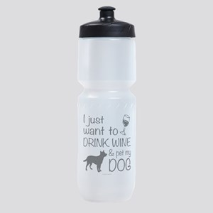 Drink Wine and Pet Dog Sports Bottle