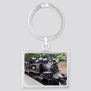 Black and White Old Fashioned S Landscape Keychain