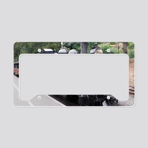 Black and White Old Fashioned License Plate Holder