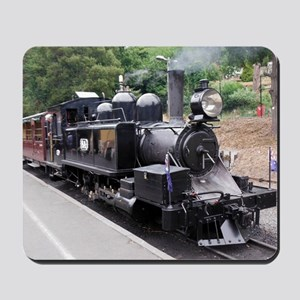 Black and White Old Fashioned Steam Trai Mousepad