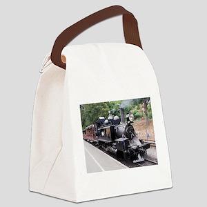 Restored Old Fashioned Steam Trai Canvas Lunch Bag