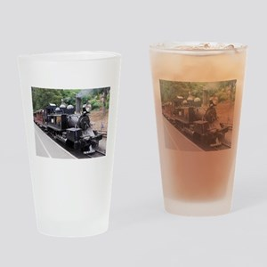 Restored Old Fashioned Steam Train Drinking Glass