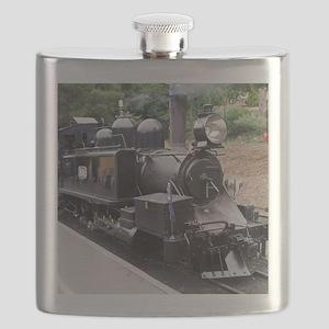 Restored Old Fashioned Steam Train Engine Flask