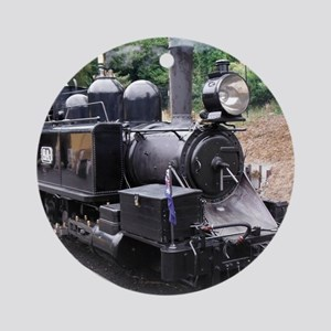 Restored Old Fashioned Steam Trai Ornament (Round)