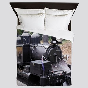 Restored Old Fashioned Steam Train Eng Queen Duvet