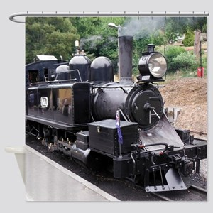 Restored Old Fashioned Steam Train Shower Curtain