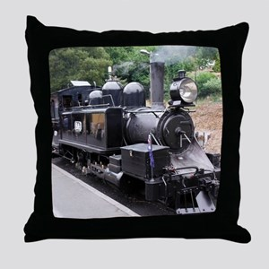 Restored Old Fashioned Steam Train En Throw Pillow
