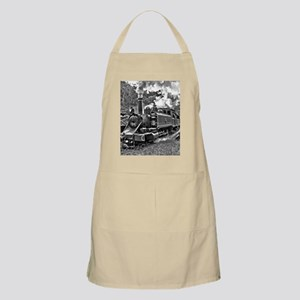 Old Fashioned Black and White Steam Train Ph Apron