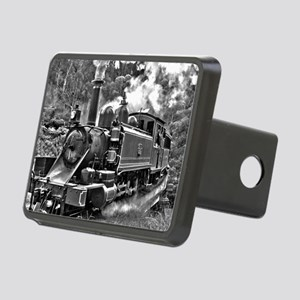 Old Fashioned Black and Wh Rectangular Hitch Cover
