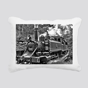 Old Fashioned Black and Rectangular Canvas Pillow