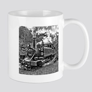 Old Fashioned Black and White Steam Train Pho Mugs