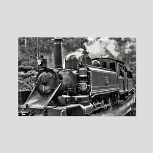 Old Fashioned Black and White Steam Train Magnets