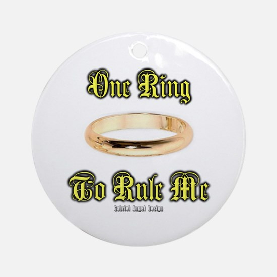 One Ring Ornament (Round)