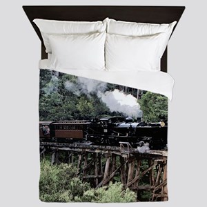 Heritage Narrow Gauge Steam Railway Tr Queen Duvet