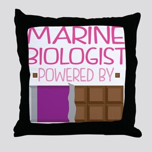Marine Biologist Throw Pillow