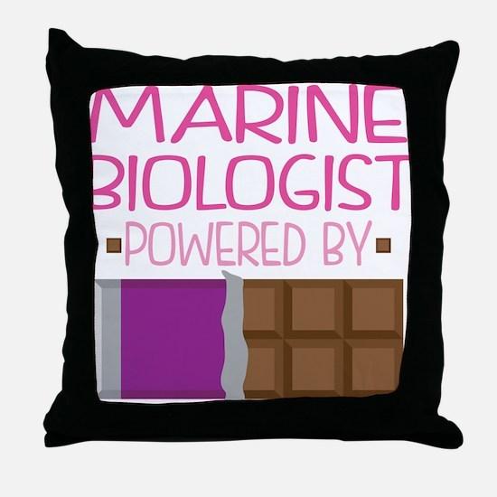 Marine Biologist Throw Pillow