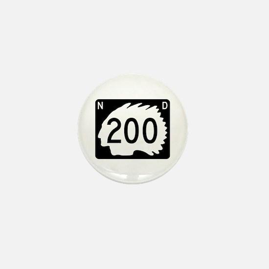 Highway 200, North Dakota Mini Button