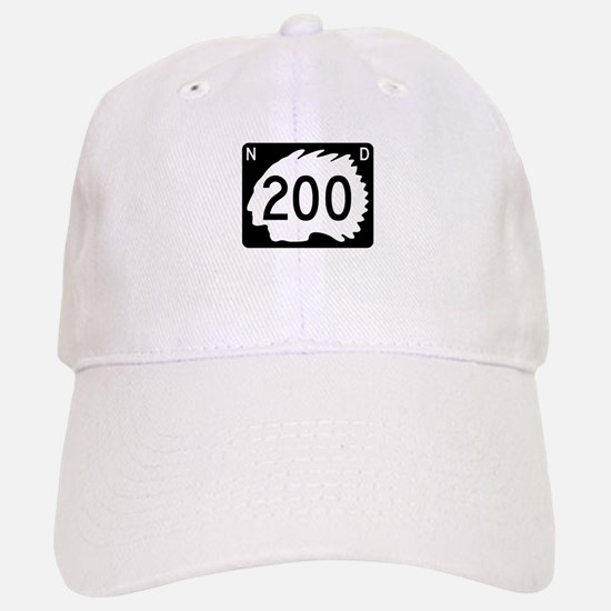 Highway 200, North Dakota Baseball Baseball Cap