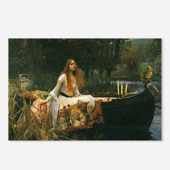 Lady of Shalott by JW Wat Postcards (Package of 8)